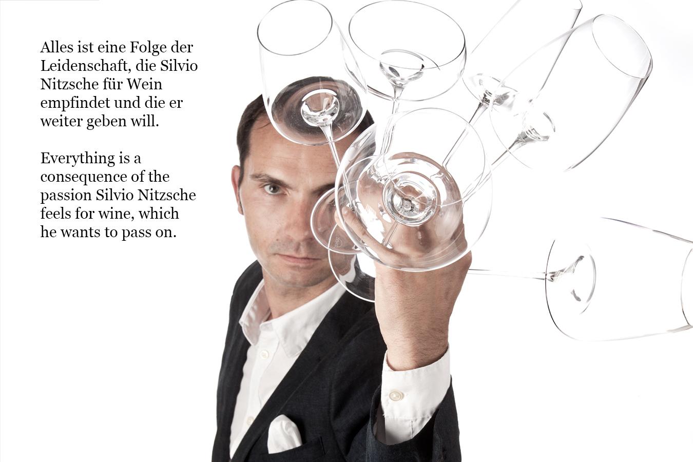 Sommelier Silvio Nitzsche und seine Weingläser
