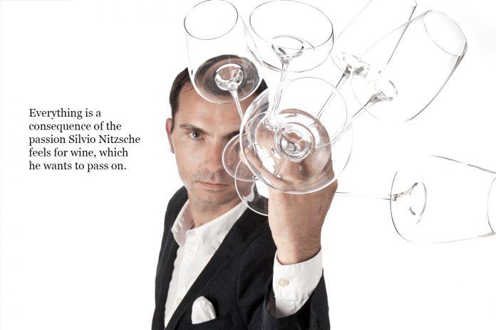 Sommelier Silvio Nitzsche and his wine glasses